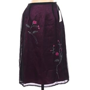 Kathie Lee Skirt Size Small NWT Embroidery